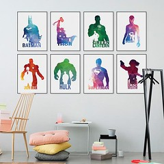 Geometric Abstract Avengers Super Hero Pop Movie Batman Iron Man Captain Thor Canvas Art Print Poster Deadpool A4 Wall Picture Deco Painting by TheMildArt (Mild Art) Tags: art poster print painting canvas frame design original mild home decoration wall etsy shop for themildart