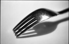 img669 (Jurgen Estanislao) Tags: fine art still life fork black white monochrome vintage film photography jurgen estanislao voigtlaender bessaflex carl zeiss jena flektogon 35mm f24 kodak 400tx hc110 g