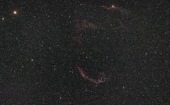 NGC 6995 Cirrusnebel (alexander_skaletz) Tags: night summer astro astrophotography nature photography astronomy dark warm sky space nightskys detail germany badenwürtemberg sigma stars summernight longexposure canon eos 600d ngc ngc6995 cirrus nebula himmel astrometrydotnet:id=nova3383752 astrometrydotnet:status=solved