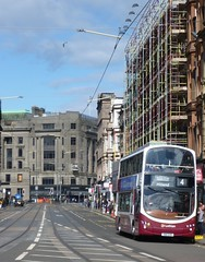 Lothian 392 on Shandwick Place, Edinburgh. (calderwoodroy) Tags: eclipsegemini2 wrightbus b9tl volvo sn11eeb 392 service4 edinburghtransport transportforedinburgh lothianbuses lothian lothianbusescentenary lothian100 doubledecker bus shandwickplace edinburgh scotland