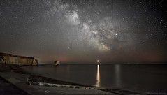 Core values.. (Graham Hendey) Tags: freshwaterbay isleofwight core milkyway sea beauty nature sky stars universe awesome galaxy