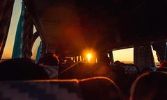 Sunlight Bus (free3yourmind) Tags: sunlight sun bus inside interior people traveller dust transport transportation almaty seats coach sunset travel