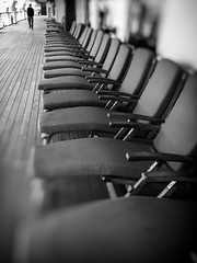 Not a Seat in the House (Katrina Wright) Tags: alaskacruise iphone img1407edit2 seats empty dof bw nb lonely solitude