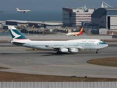 Cathay Pacific                           Boeing 747                                    B-HOY (Flame1958) Tags: cathaypacific cathaypacificb747 boeing747 boeing b747 747 bhoy hkg 100213 0213 2013 hongkongairport 3503 hongkongcheklapkok cheplapkok