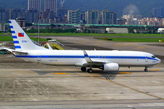 Taiwan Air Force One Boeing 737-8AR 3701 (Manuel Negrerie) Tags: rocaf 3701 boeing b737800 winglets tsa airport buildings scenery aviation jetliner airliner aircraft taiwan taipei design cfm livery spotting songshanairport avgeeks jet plane vip government