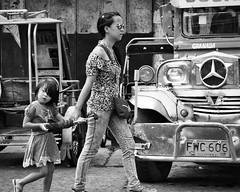 Don't Dawdle (Beegee49) Tags: street people mother daughter blackandwhite monochrome bw sony a6000 bacolod city philippines asia happyplanet asiafavorites