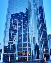Reflections. Radisson Blu, Oslo (trine.syvertsen) Tags: lovelycity thebluehour bluehour glass reflections reflection osloplaza radissonblueplaza norway oslo