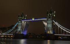 Fully open... (Dan Elms Photography) Tags: towerbridge london riverthames thames bridge road tower city roadway open lights nighttime nightshoot night dark canon canon5dmkiii 5dmkiii