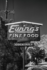Ewings (Thomas Hawk) Tags: america california ewings ewingsfinefood ewingsrestaurant ewingsonthekern kerncounty kernriver kernville us usa unitedstates unitedstatesofamerica bw neon neonsign restaurant fav10