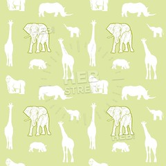 Seamless light green safari animals (Hebstreits) Tags: abstract africa african animal art baby babyrhino background boy cartoon childelephant children color colorful cute decoration design drawing elephant fabric giraffe gorilla graphic green illustration jungle kid light monkey nature ornament pattern print rhino safari seamless silhouette stye textile texture tropical vector wallpaper watercolor white wild wildlife yellow zoo