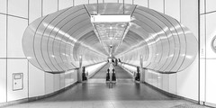 Space-ship? (Ellen Kolff Fotografie) Tags: blackwhite bw blackandwhite zwartwit metro rotterdam space spaceship subway