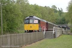 33021 at Leek Brook (jon33040) Tags: 33021 leekbrook class33 churnetvalleyrailway