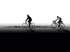 bicycle riders couple silhoutte the coloful background illustration (ciddibirikiuc) Tags: adult bicycle blue couple cycle dark exercise graytone healthylife illustration monochrome people rideabike silhouette sportiveactivity spring summer twowheels wheels white gray black m43turkiye m43turkiyecom olympus60mmf28macro insanlar bisiklet siyahbeyaz