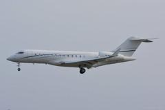 M-MAVP Bombardier Global 6000 EGNS 17/4/19 (David K- IOM Pics) Tags: egns iom isleofman isle man ronaldsway airport mmavp bombardier bd700 global 6000 gl5t gl6t manx register business jet
