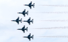 Thunderbirds - Bottom View (ep_jhu) Tags: xt3 provia aircraft airplane flying formation fujifilm falcon airforce thunderbirds andrewsafb andrewsairforcebase legendsinflight fuji airshow f16 military 2019 usaf jointbase andrewsfield maryland unitedstatesofamerica
