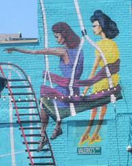 Swingers (edenpictures) Tags: coneyisland brooklyn mothersday newyorkcity nyc mural painting swing rollercoaster amusementpark lunapark