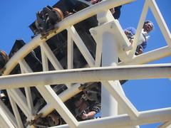 Janine on the Steeplechase (edenpictures) Tags: janine mom mothersday steeplechase rollercoaster horses coneyisland brooklyn newyorkcity nyc amusementpark lunapark