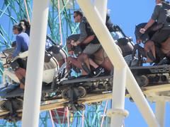 Janine & Eden on the Steeplechase (edenpictures) Tags: janine mom mothersday eden steeplechase rollercoaster horses coneyisland brooklyn newyorkcity nyc amusementpark lunapark