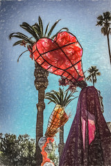Strangers In The Park (p) (davidseibold) Tags: america california canonrebelt3i cemetery diadelosmuertos hollywood hollywoodforevercemetery jfflickr losangelescounty palmtree photosbydavid plant postedonello postedonflickr santamonicablvd sky tree unitedstates usa losangeles unitedstatesofamerica