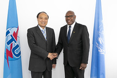 ITU Official Visits, High Level and VIP Meetings (ITU Pictures) Tags: he mr sumbue antas ambassadeur republic vanuatu united nations geneva un itu secretarygeneral houlin zhao
