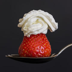 A Spoonful 5 (PhilDL) Tags: aspoonful strawberry cream spoon