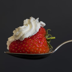 A Spoonful 4 (PhilDL) Tags: aspoonful strawberry cream spoon