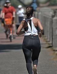 Running Away (Scott 97006) Tags: woman female lady runner running backside derrier exercise fit