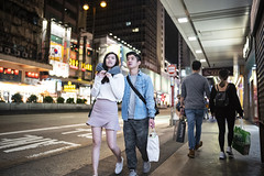 Saturday night (人間觀察) Tags: 28mm f14 7artisans 七工匠 leica leicam hong kong street photography people candid city stranger public space walking off finder road travelling trip travel 人 陌生人 街拍 asia girls girl woman 香港 wide open