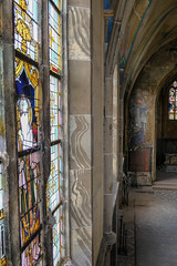 stained glass III (=Mirjam=) Tags: fujixt20 chapel church stainedglass colourful abandoned urbex mei 2019