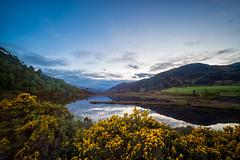 Dusk at glen Strathfarrar (14mm) (http://www.paradoxdesign.nl) Tags: 14mm nikon glen strathfarrar beauly struy invernessshire scotland inverness dusk sunset sky mountains loch lake reflecion reflecting mirror water travel red deer secluded