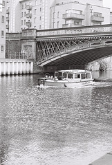 River taxi (vickyhindle) Tags: canoneos3 canonef50f14 neopan400cn blackwhite 35mmfilmphotography
