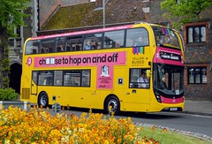 200 SN17MTO (PD3.) Tags: bournemouth yellow adl enviro 400 mmc 200 sn17mto sn17 mto bus buses psv pcv hampshire hants england uk fokab friends king alfred day winchester broadway cattle market station 2019