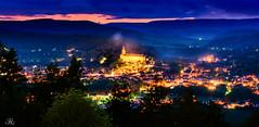 Rudolstadt at the Blue Hour (Uwe Kögler) Tags: thüringen germany schloss deutschland dämmerung abend panorama city rudolstadt thuringia heidecksburg night evening castle burg lzb langzeitbelichtung