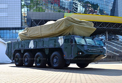 Minsk, Belarus: Military exhibition MILEX-2019: Special vehicle MZKT-69225 with the wheel formula 8x8 for the new air defense missile system Buk-MB3K by enterprise NPOOO OKB TSP (maxsafaniuk) Tags: aircraft armament armature armedforces arming armor armoredtruck arms army array arsenal ballistic ballisticmissile belarus buk combat equipment europe force industrial industry martial materiel milex2019 militarist militarists military minsk missile missiledefense missilelaunch modernized power rocket shooting soldiery tank technologies technology transport transportation troop troops vehicle war warlike wartime weapon weaponry weaponswar