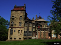 Fonthill Castle (DRC - THANKS for 3.4 Million Views) Tags: fonthill castle estate concrete doylestown pa house mansion henrymercer old unique artsandcrafts blue red green tiles sky trees windoows prints architecture olympus omdem5ii
