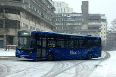HF66 DPV, Blechynden Terrace, Southampton, March 1st 2018 (Southsea_Matt) Tags: hf66dpv 2753 route12 alexanderdennis adl e200 enviro200 mmc goahead bluestar wyndhamplace southampton england unitedkingdom march 2018 spring iphone6 bus omnibus transport vehicle snow