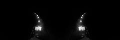 Parallel Universe (Novowyr) Tags: paralleluniverse fog dark noir car lampposts street road promenade riverside rhine rhein basel headlights selectivelight mirrored filmnoir loneliness suspense infinity auto nacht night dunkel dunkelheit scheinwerfer lampen strase rheinufer strasenlaternen