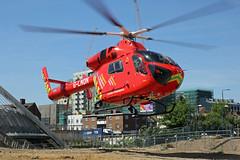 London's Air Ambulance in Wembley (kertappa) Tags: img1216 air ambulance londons london hems doctor paramedics hospital glndn emergency helicopter kertappa wembley