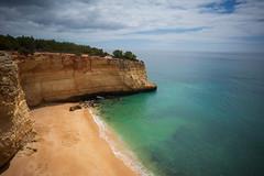 Cão Raivoso Beach (calhack7) Tags: portugal water ocean cliffs sea shore sand lagos algarve sky clouds