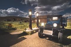 Old American (KurteeQue) Tags: bodie california nikon nikond610 benro oldamerican truck old abandoned ghosttown gasstation urbex explore hills clouds dark night day