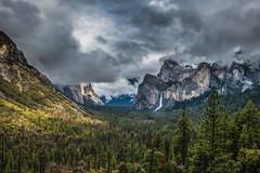 Cliche Waterfall, Yosemite National Park (paccode) Tags: solemn waterfall d850 landscape winter nationalpark brush serious overcast hills snow california yosemite forest clouds fog scary tree bushes quiet mountain yosemitenationalpark unitedstatesofamerica