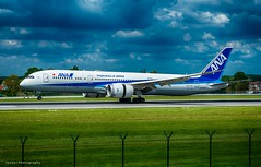 ANA_B787 (Jantje Photography) Tags: boeing 787 dreamliner brussel airport ana gras air grass