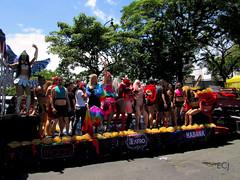 Gente en una carroza, Marcha de la Diversidad 2018/ People on a float, Costa Rican Pride 2018 (vantcj1) Tags: árboles vegetación cielo nubes carroza gente multitud congregación discoteca drag gay lgbti diversidad igualdad orgullo derechos amor amistad urbano ciudad multicolor poste