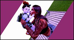 Mommy (Kara Blossom) Tags: metaverse life second sl family famille mom mother maman child kid toddler enfant toddleedoo seed bad cornes hornes elf elven bandana backpack salopette sneakers baskets glasses lunettes collier jewell top débardeur jeans watch montre ring bague tattoo tatouage choker piercings