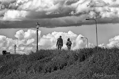 Skyhigh (Alfred Grupstra) Tags: blackandwhite people outdoors nature men sky cloudsky landscape cloudscape monochrome silhouette environment woman