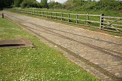 Tracks to run sand and gravel carts (dyvroeth) Tags: tracks waterworks watersupply leyton londonboroughofhackney unitedkingdom