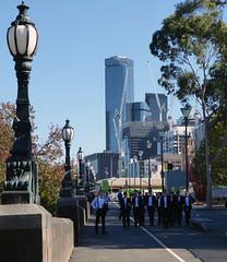 Penguin Parade Melbourne (graeme37) Tags: melbourne city streetlamps citybuildings builderscranes riverside youngmen