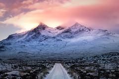 The Cullins on the Isle of Skye. (Geoff Moore UK) Tags: sunrise scottishmountains isleofskyewinter snow dawn burningsky