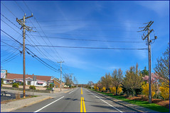 Down the Road (Timothy Valentine) Tags: capecod 0419 telegraphtuesday route28 sky pole wire 2019 westyarmouth massachusetts unitedstatesofamerica