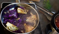 Braising Fennel & Red Cabbage (Padmacara) Tags: z6 nikkor2485mm food fennel redcabbage induction garlic shallot pernod lemon
